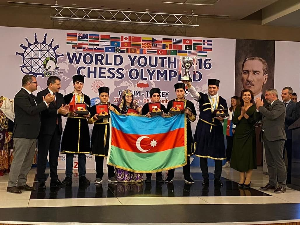 Azerbaijan team won the 2019 World Youth U-16 Chess Olympiad!